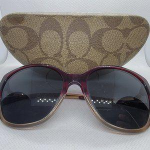 COACH HC8218 L1655 Gold Red Sunglasses w/ Case